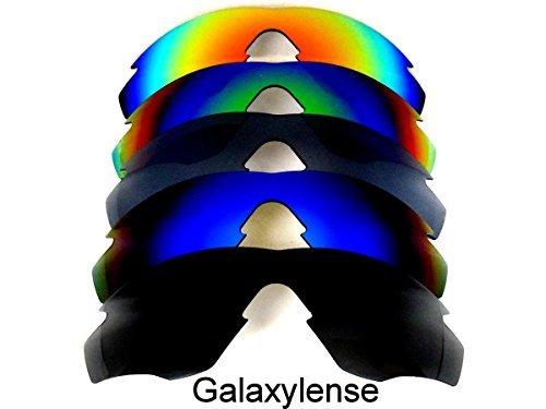 Ersatzgläser Für Oakley M2 Frame schwarz & blau & Titan & grün & rot Polarisierend 5 Paar - Durchsichtig, regular