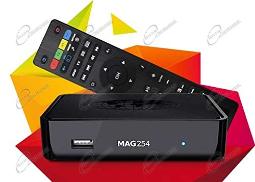 MAG 254 WLAN Box Player IPTV Internet TV Box Set TOP Multimedia USB HDMI HDTV