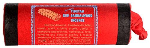 Buddhafiguren bastoncini di incenso tibetano legno di sandalo rosso