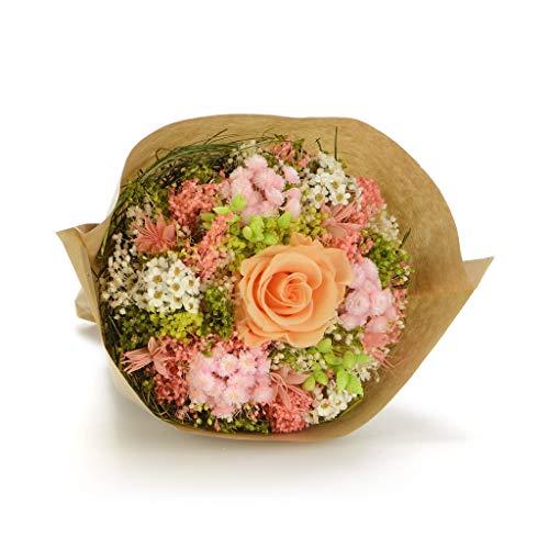 Bouquet garden (pesca) sanremo fiori essiccati dalla riviera dei fiori con rosa stabilizzata ...