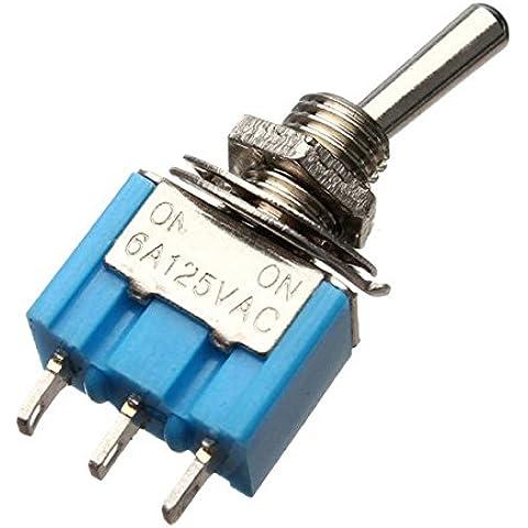 3 Pins Toggle interruttore AC 125V 6A 2 Posizione SPDT