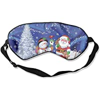 Eye Mask Eyeshade Christmas Snowman Sleep Mask Blindfold Eyepatch Adjustable Head Strap preisvergleich bei billige-tabletten.eu
