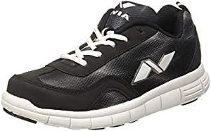 Nivia Escort Running Shoe, Men's 4 UK (Black/White)