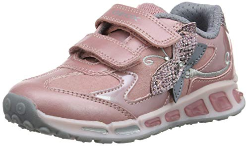 Geox J Shuttle Girl A, Zapatillas para Niñas, (Rose/Silver Ck81w), 31 EU