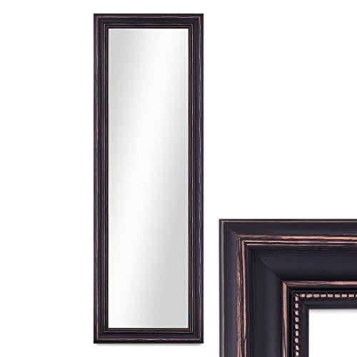 PHOTOLINI Wand-Spiegel 40x100 cm im Massivholz-Rahmen Landhaus-Stil Dunkelbraun/Spiegelfläche 30x90...