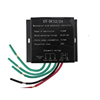 ‏‪Festnight 500W DC12V/24V Automatic Switch Waterproof Wind-driven Generator Controller Regulator with Battery Charge Function‬‏