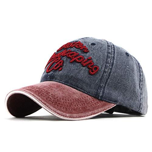 EUCoo Unisex Cap Outdoor Baumwolle Hochwertige Stickerei Einstellbar Baseball Cap(Marine)
