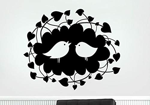 too Vogel Liebe Nest Kleine Objekte Cartoon Tiere Dekorative Telefon Tasse Abnehmbare Aufkleber 20X17 Cm ()