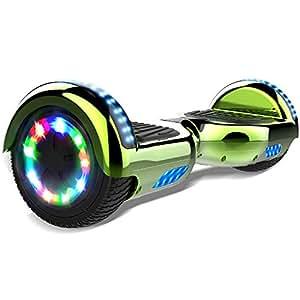 """Double Hunter Hoverboard 6.5"""" con LED Luce Self Balance Scooter Elettrico,Balance Board Elettrico, Motore 2 * 350W, Certificazione UL"""
