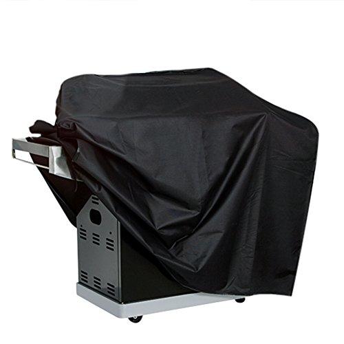 P&E Housses de protection pour barbecue en oxford,anti-poussière,anti-solaire,anti-humidité,anti -ultraviolet,de grande taille 145*61*117cm (noir)