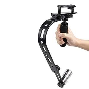 IDLB Andoer Mini caméra vidéo Steadycam Steadicam Stabilisateur pour Canon Nikon Sony Pentax numérique compact DSLR Caméscope DV Noir