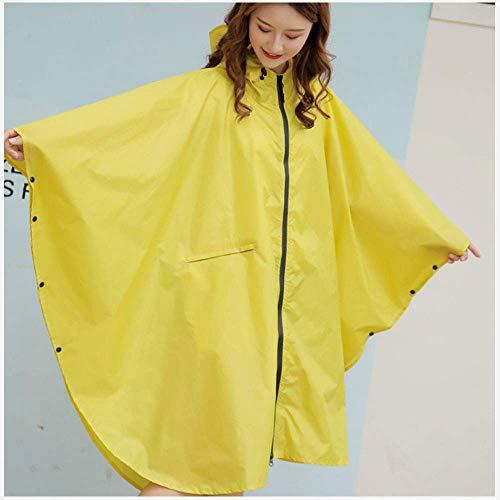 Guyuan Regenmantel der Art und Weisewasserdichter Mantelregenmantel weiblicher Erwachsener Korea-im Freien niedlicher Poncho-Fahrrads einzelner (Color : Yellow, Size : L)