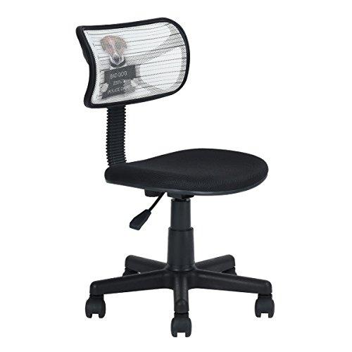 Tarea de malla oficina en casa ordenador sillas Mid Back giratorio ajustable para niños Kids estudio DOG Pattern