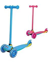 FASCOL Monopatín Scooter Patinete Escúter Plegable de 3 Ruedas para niños de 2 a 5 años - Azul