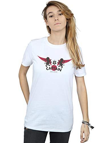 Harry Potter Damen Gryffindor Captain Boyfriend Fit T-Shirt Weiß XXXX-Large