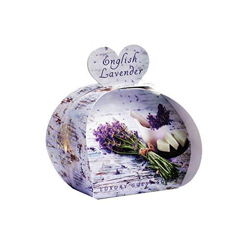The english soap company - 3 saponette di lusso - fragranza lavanda inglese - 3 x 20 grammi