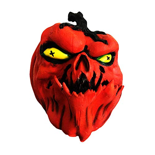 Halloween Kürbis Kopf Maske Horror Orange Rot Lustige Vollkopf Maske Latex Prom Dress up Requisiten