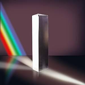 Neewer® 10cm Ottico Vetro Triplice Triangolare Prisma Insegnamento Fisica Spettro di Luce