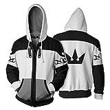 Unisex Frühling Herbst Kapuzenpullover Spiel Cosplay Baumwolle Zip Jacke Sweatshirt Mantel Top für Kleidung Merchandise