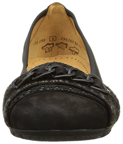 Gabor 34-166-37, Damen Ballerinas Schwarz (schwarz A)