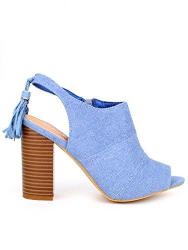 Cendriyon, Bottines Bleu Jean FRAY Chaussures Femme Bleu