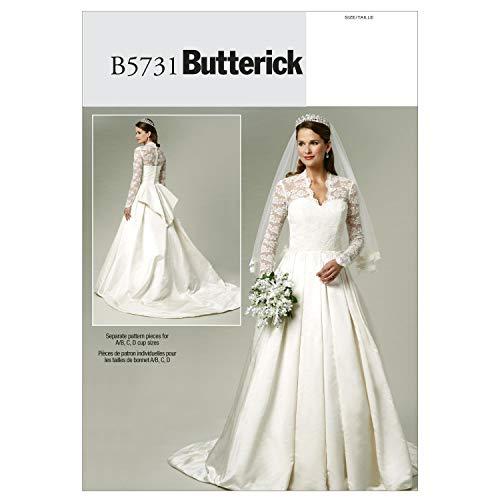 2c6e6be6786e Burda 6776-Cartamodelli per abiti da sposa e sottogonna