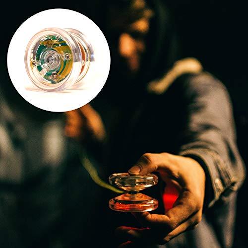 YoyoFactory HUBSTACK LED Yo-Yo Mit Drei Kugellager-System - TRANSPARENT (Leuchtendes Yoyo, Moderne Leistung Yoyo, Schnur und Anleitung Enthalten, Freistil Yoyoing Tricks) - Kugellager System