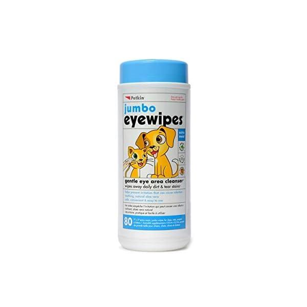 SHARPLES Petkin Jumbo Eye Wipes 80pcs pack of 1 1