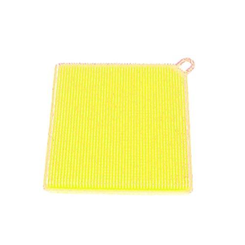 1 Stück Platz Silikon Gericht Waschen Schwamm Wäscher HARRYSTORE Küche Reinigung Antibakteriell Werkzeug (Gelb) (Halter Schwamm Wäscher Und)