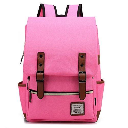 OUFLY Zaino da viaggio di moda Zaino da viaggio Casual Daypack Leisure Borsa da scuola zaino - Blu profondo Rosa Rosso