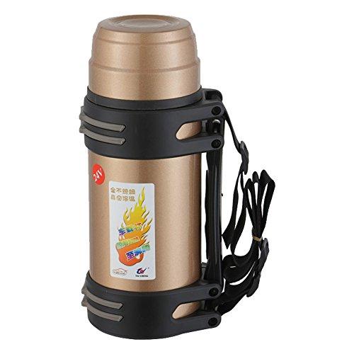 Preisvergleich Produktbild Taicheng Wasserkoch im Auto Elektro,  Automobil Glas Isolierflasche,  12V / 24V Wasserkocher Heizung Cup,  Automatik isolierter Edelstahl Zigarettenanzünder Flasche 850ml,  Champagner