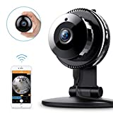 FREDI HD WiFi Caméra IP Surveillance Sécurité à la Maison Vision nocturne Détection de Mouvement Audio Bidirectionnel pour Animaux/Bébé