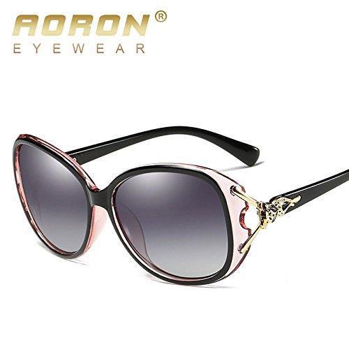 attachmenttou Frauen-Dame-elegante polarisierten Sonnenbrillen Sonnenbrillen Weibliche Prismatic Brillen