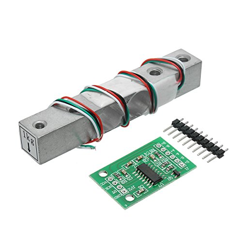Cell-gehäuse (Ils - HX711 24bit AD Module + 1kg Aluminum Alloy Scale Weighing Sensor Load Cell Kit for Arduino)