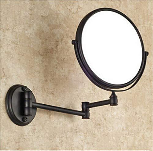 VHVCX Antike Schwarzen Make-Up Spiegel 1X4 Lupe Messing Kosmetikspiegel Badezimmer Doppel Faced Wand Befestigten Bad-Spiegel - Messing Wand Spiegel
