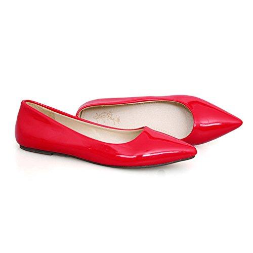 nonbrand Femme ballerines Talon Rouge - rouge