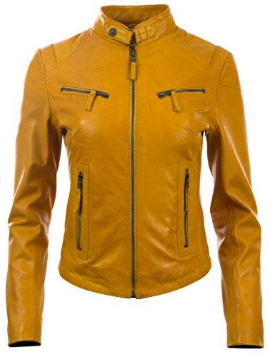 Aviatrix Damen superweiche Echtleder Mode Bikerjacke (CRD9) Leder Echt Jacke