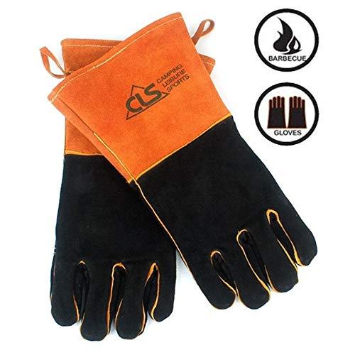 Sruma - 1Pair Außenhochtemperatur Camping Eindickung Handschuhe Sporttraining Handschuhe Wandern Grill volle Finger-Handschuhe