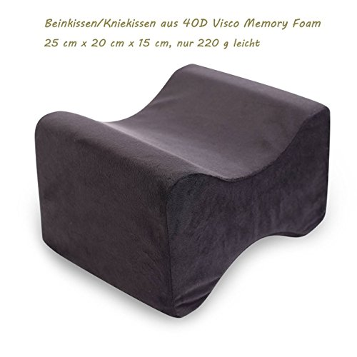 Price comparison product image Leg Cushion Knee Cushion in 40D Visco Memory Foam Ergonomic Comfortable For Home, black, Beinkissen