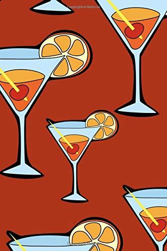 Doodle Dots Notebook: Martini Glasses Martini Dot