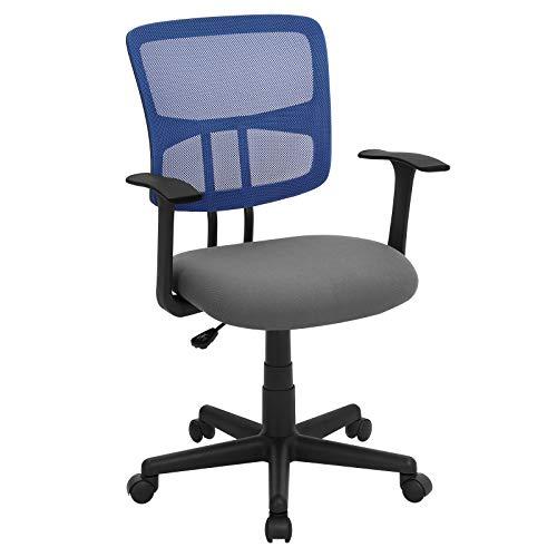 SONGMICS ergonomischer Schreibtischstuhl, höhenverstellbar, Drehstuhl aus Atmungsaktivem Netzstoff,...