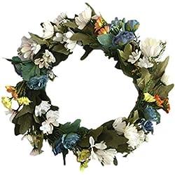 HoneybeeLY Margarita de 36 cm/decoraciones florales temporales/flores artificiales, guirnaldas, hechas de plástico, hechas a mano, coronas, decoraciones florales, decoraciones para bodas
