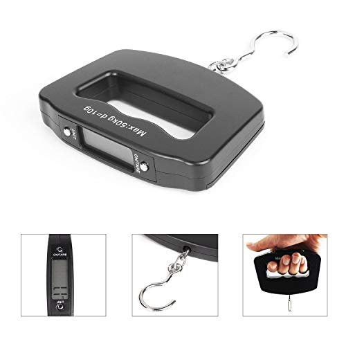 PETRICE 50 kg-10 g Mini Weight Balance Digital Portable Electronic Luggage Weighting Hook Hanging LCD Scale