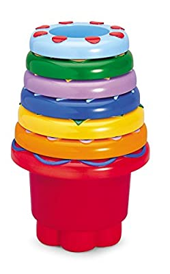 Tolo Set of 7 Rainbow Colours Stacking and Nesting Cups
