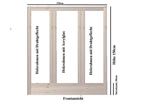 "Chinchilla Degu Frettchen Massivholz Gehege Käfig ""Luxury Chilla"" 150x120x80cm von Käppel-Germany"