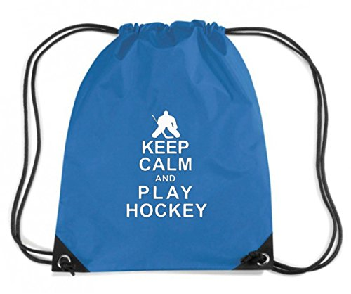 T-Shirtshock - Zaino Zainetto Budget Gymsac OLDENG00808 keep calm and play hockey, Taglia Capacita 11 litri