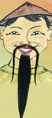 Orlob Chinesenbart de Luxe Bart zum China Kostüm an Karneval Fasching