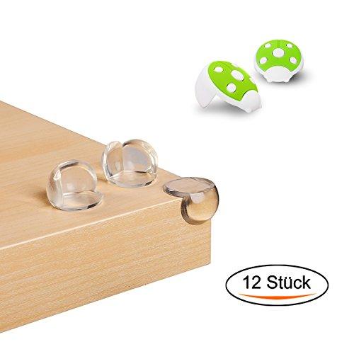 Preisvergleich Produktbild Schutz baby,Eckenschutz und Kantenschutz Hochtransparent aus Kunststoff für Tisch- und Möbel-Ecken - Stoßschutz für Baby's und Kinder (12 Stück)