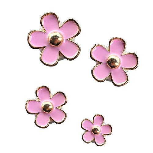 ZqiroLt Auto Aroma Clip, Blumenform, schöne Daisy Air Outlet Lufterfrischer Parfüm Dekor 4 Teile/Satz Pink -