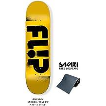 Monopatín skate skateboard FLIP Odyssey Stencil yellow 7,75¨